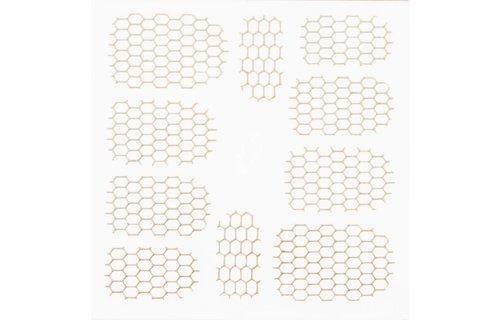 No Label Metallic Filigree Stickers SFLS-002 Gold