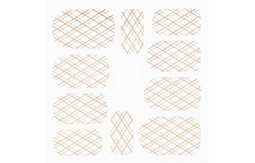 No Label Metallic Filigree Stickers SFLS-009 Gold