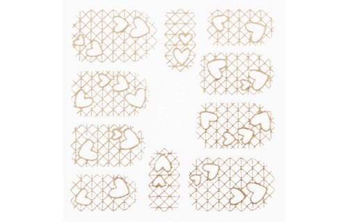 No Label Metallic Filigree Stickers SFLS-010 Gold