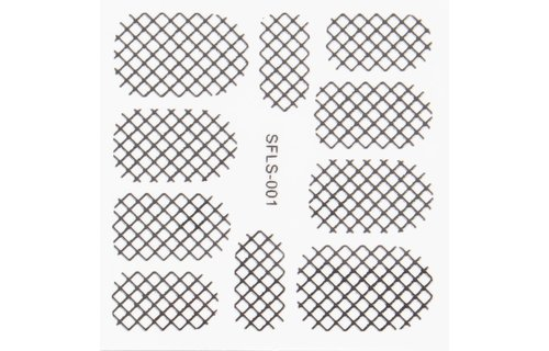 No Label Metallic Filigree Stickers SFLS-001B