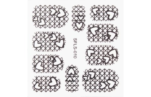 No Label Metallic Filigree Stickers SFLS-010B