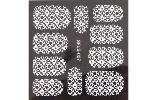 No Label Metallic Filigree Stickers SFLS-007W