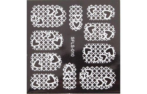 No Label Metallic Filigree Stickers SFLS-010W