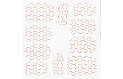 No Label Metallic Filigree Stickers SFLS-002 Rose Gold