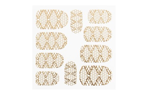 No Label Metallic Filigree Sticker LNS-11012 Gold