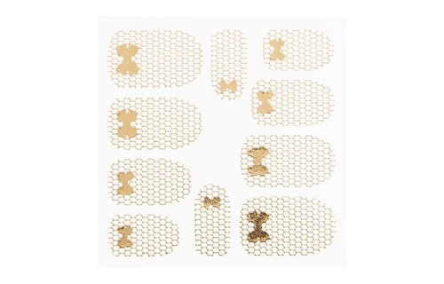 No Label Metallic Filigree Sticker LNS-11013 Gold