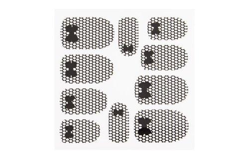No Label Metallic Filigree Sticker LNS-11013 Black