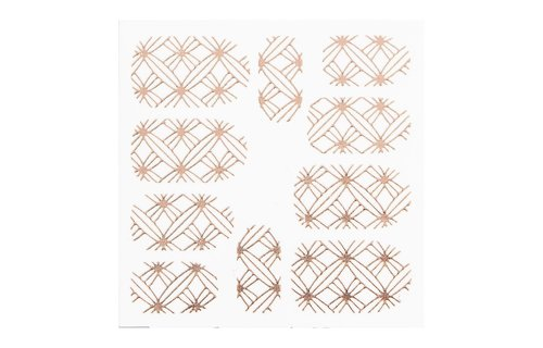No Label Metallic Filigree Sticker LNS-11008 Rose Gold