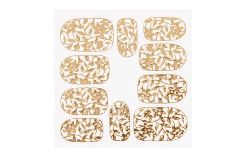 No Label Metallic Filigree Sticker KOR-006 Gold