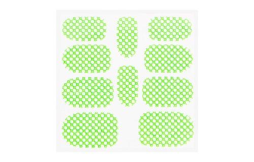 No Label Metallic Filigree Sticker KOR-015 Neon Green