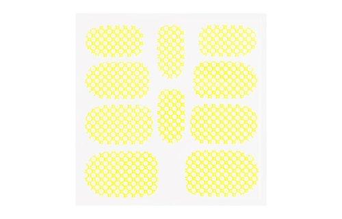 No Label Metallic Filigree Sticker KOR-015 Neon Yellow