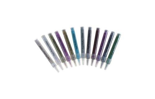 No Label Glitter Tube Regenb. Blauw GT-KR