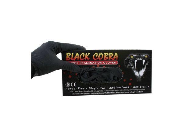 Handschoenen Latex Black Cobra M