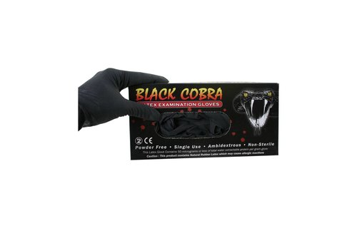 No Label Handschoenen Latex Black Cobra L