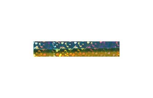 No Label Transfer Foil Diamond Blauw/ groen/ goud