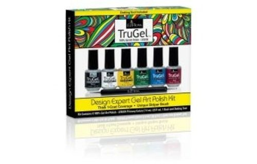 Ez Flow TruGel Design Expert Gel Art Polish Kit - Neon Collection 6 Colors