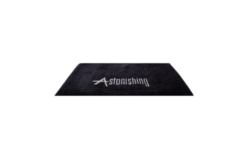 Astonishing  Zwarte handdoek met  Astonishing Logo