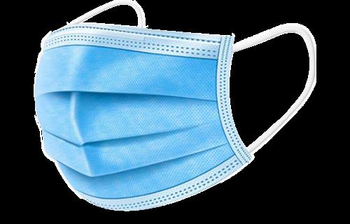IBP 50 st Mondmasker 3-laags met elastiek - Blauw (0% btw)