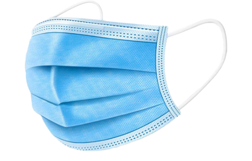 IBP Mondmasker 3-laags met elastiek - 50st Blauw (0% btw)