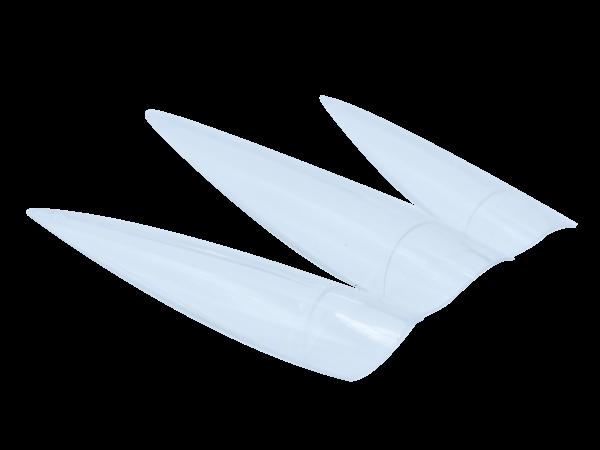 Stiletto Tips Medium Clear 500pcs