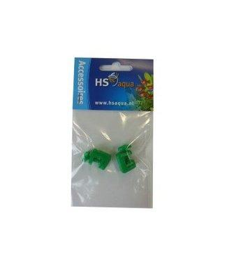 HS AQUA SLANGKLEM PLASTIC GROEN 4-6 PER 2 ST.