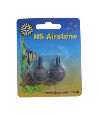HS HI-OXYGEN LUCHTSTEEN BAL GRIJS 20 MM 2 ST/BLISTER CR-20-2