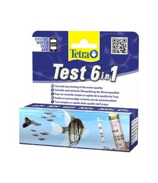 TETRA TEST STROKEN 6-1 (GH;KH;NO2;NO3;pH;Cl2)