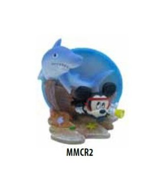PENN PLAX MICKEY MOUSE SHIPWRECK WITH SHARK  MMCR2