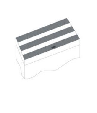 JUWEL KLEPPENSET IV ZWART 120X50 CM VOOR RIO 300/350 (3 -DLG