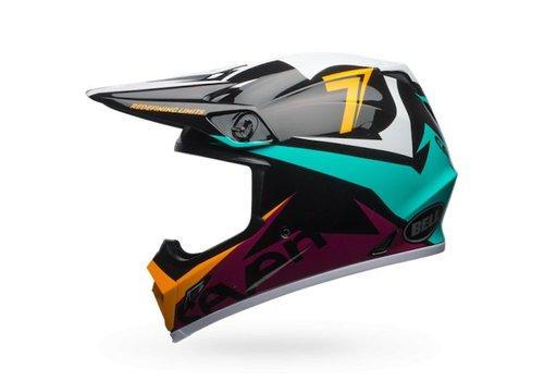 Bell Helmet MX-9 Seven Ignite Aqua/Navy crosshelm