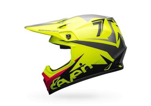 Bell Helmet MX-9 Seven Ignite Fluo Yellow crosshelm
