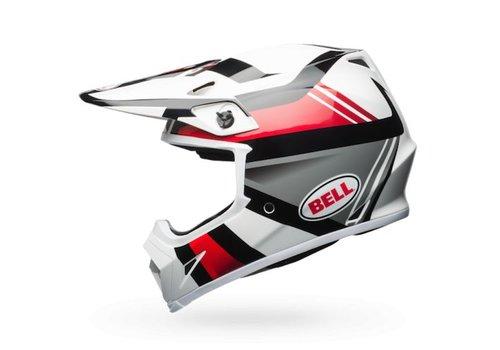 Bell Helmet MX-9 Gloss White/Black/Red Marauder crosshelm