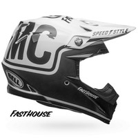 Bell Helmet Moto-9 Fasthouse Gloss/Matte Black/White crosshelm