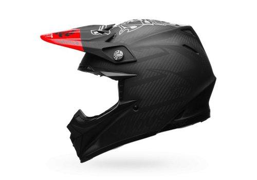 Bell Helmet Moto-9 Flex Fasthouse Matte Black/Red crosshelm