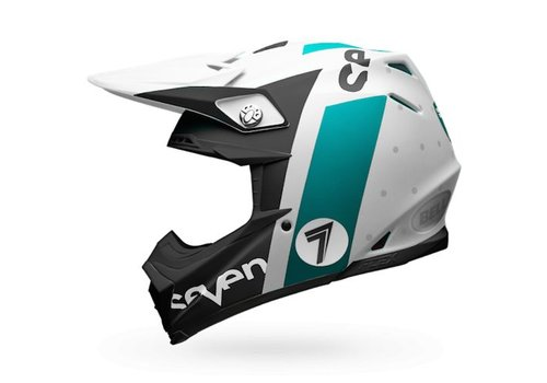 Bell Helmet Moto-9 Flex Seven Flight Matte Aqua crosshelm