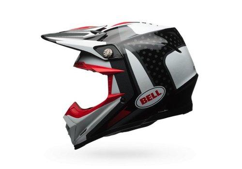 Bell Helmet Moto-9 Flex Vice Black/White crosshelm