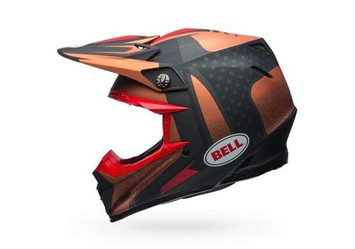 Bell Helmet Moto-9 Flex Vice Copper/Black crosshelm