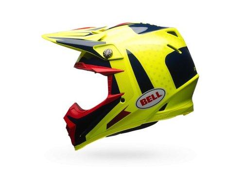 Bell Helmet Moto-9 Flex Vice Blue/Yellow crosshelm