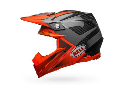 Bell Helmet Moto-9 Flex Hound Gloss/Matte Orange/Charcoal crosshelm
