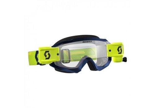Scott Hustle x mx WFS crossbril - geel/blauw