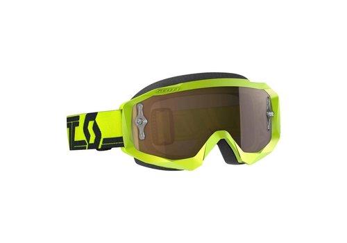 Scott Hustle x mx crossbril - geel/zwart