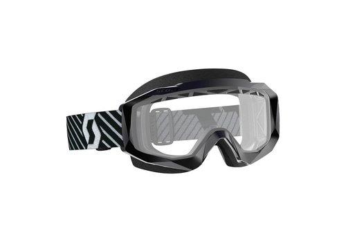 Scott Hustle x mx enduro crossbril - zwart/wit