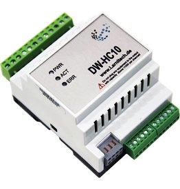 Larnitech DW-HC10 - 10-kanaals DIN-rail verwarmingsmodule
