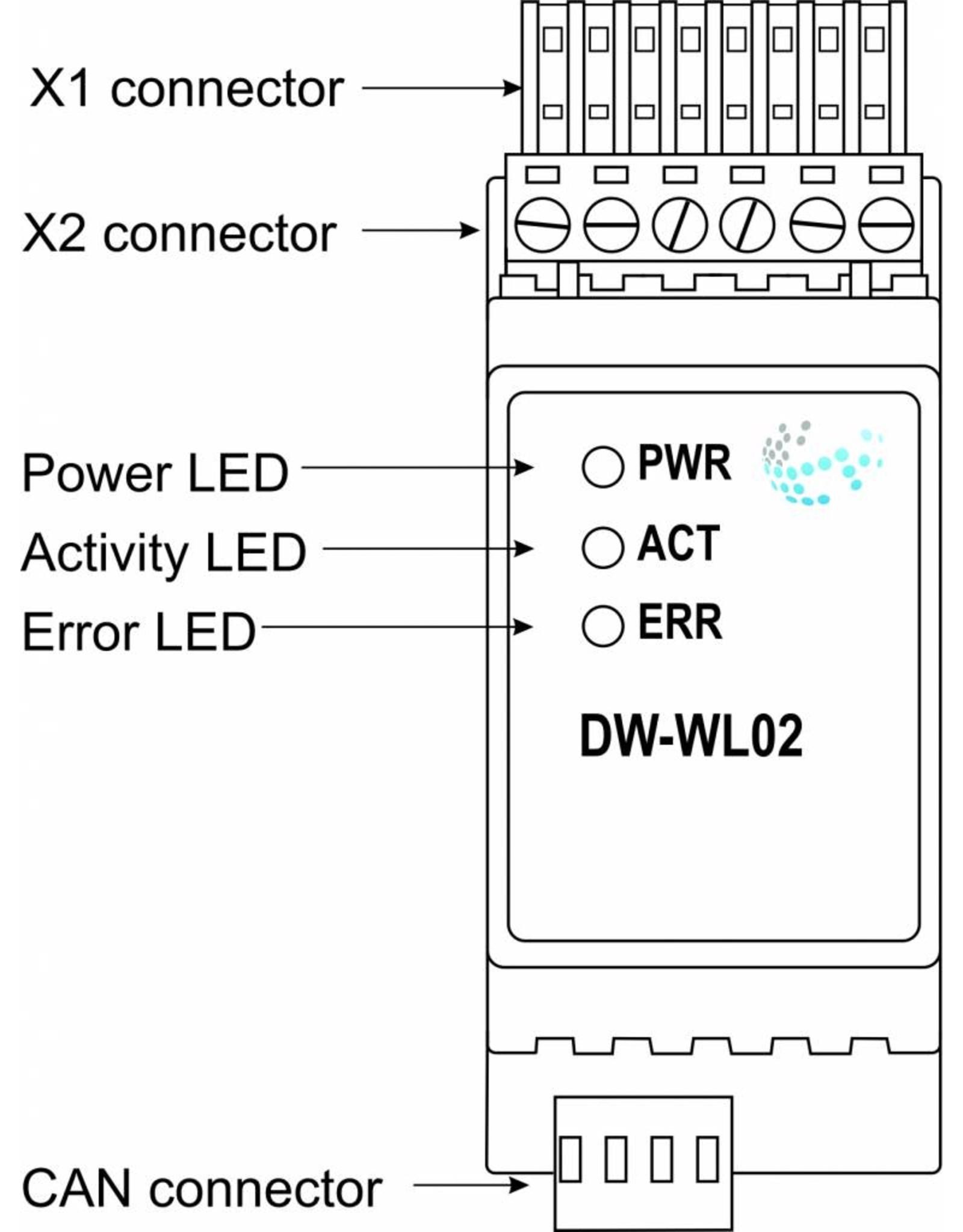 Larnitech DW-WL02 - DIN-rail waterlekkage module