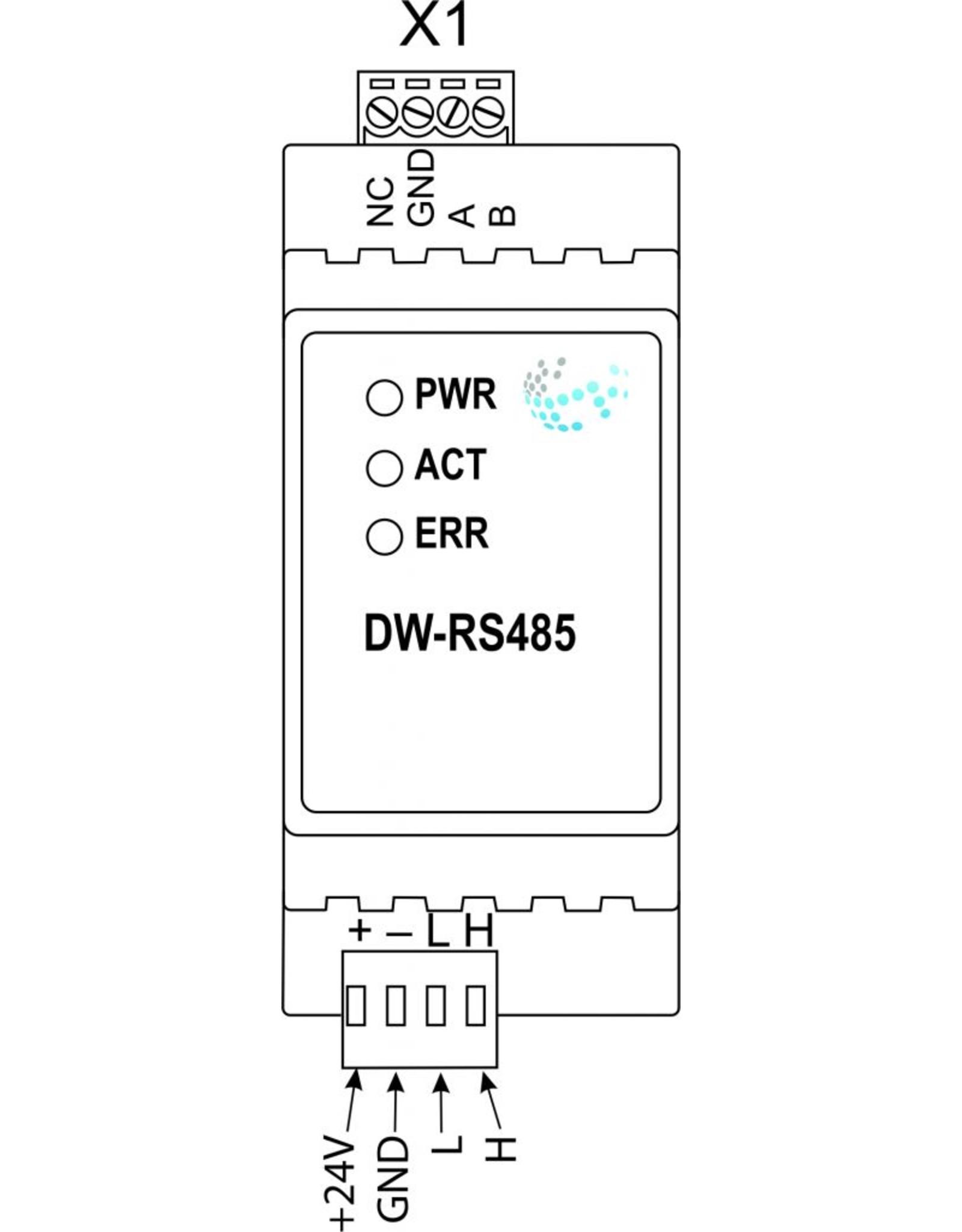 Larnitech DW-RS485 - DIN-rail RS485 interface