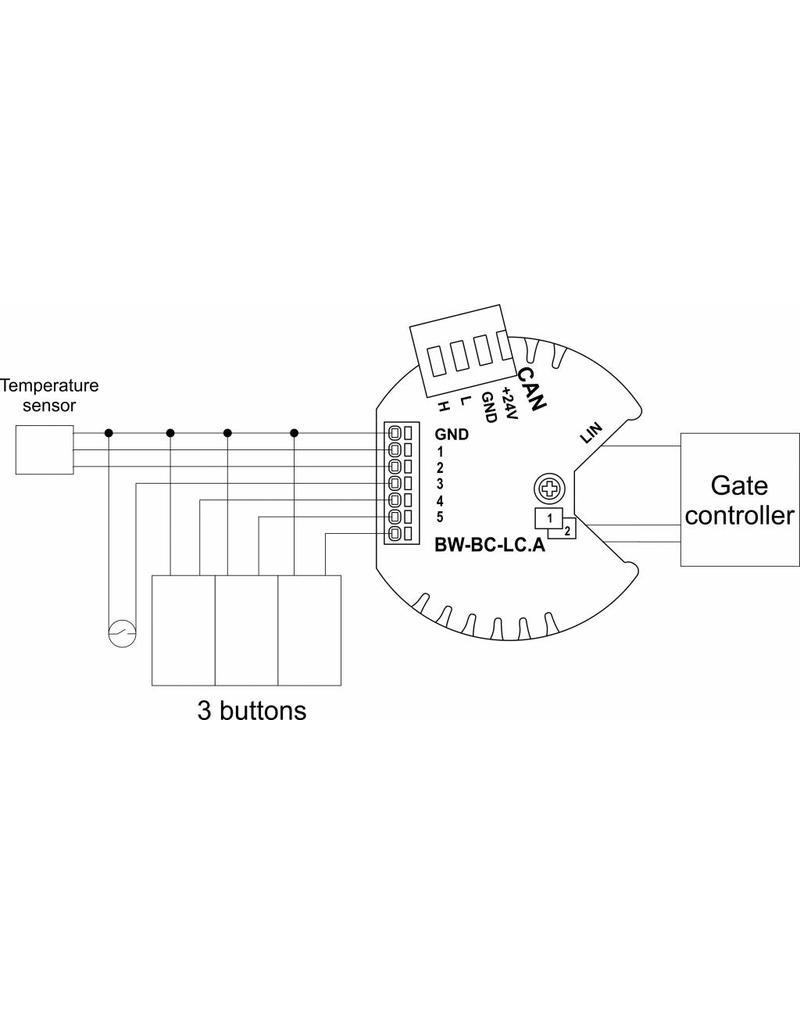 Larnitech BW-BC-LC - Inbouw schakelactoor voor rolluiken e.d. - Laagspanning