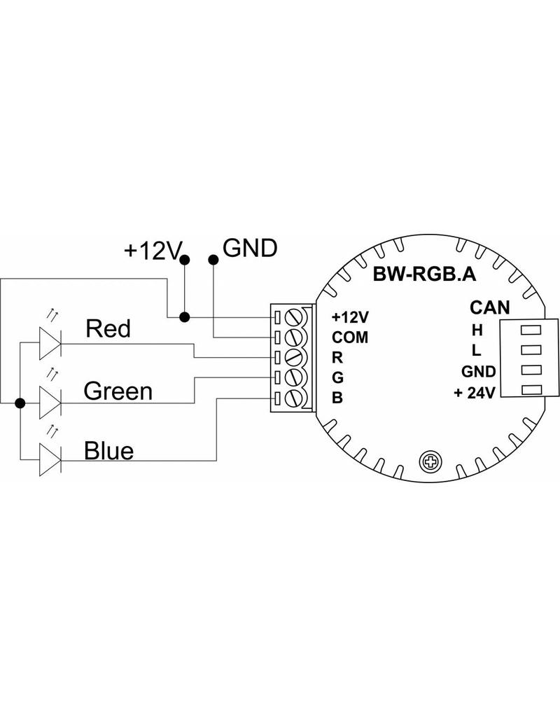 Larnitech BW-RGB - Inbouw RGB-dimmer