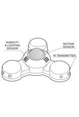 Larnitech CW-HTMLI - Sensor voor luchtvochtigheid, beweging, lichtsterkte en tevens infraroodzender