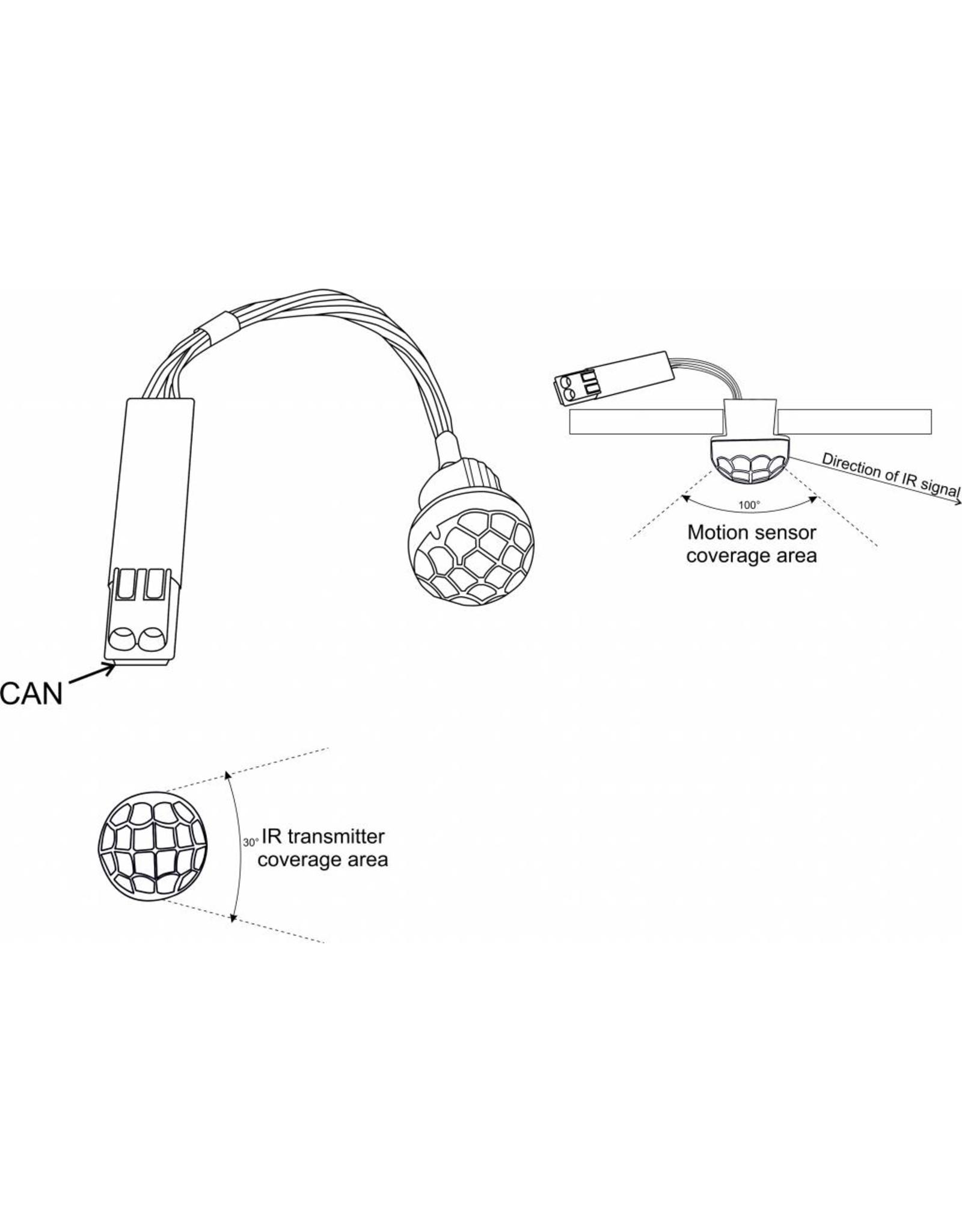 Larnitech CW-MLI - Sensor voor beweging, lichtsterkte en tevens infraroodzender