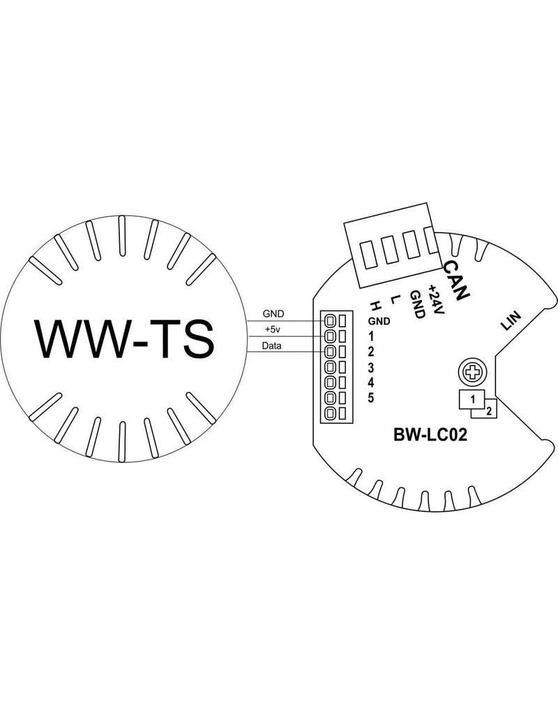 Larnitech WW-TS - Temperatuursensor voor in de wand of plafond.